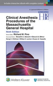 Clinical Anesthesia Procedures of the Massachusetts General Hospital, 9e